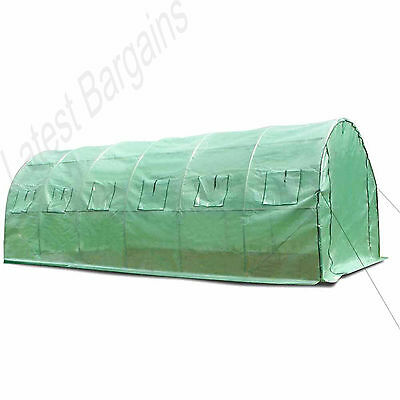 Walk In Greenhouse Hot House Large Garden Plant Shed Green 6M x 3M x 2M Steel