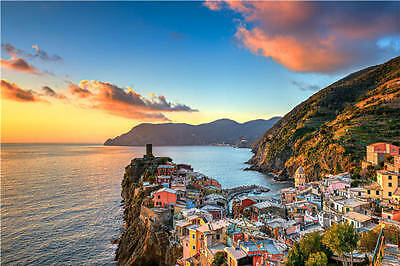 Vernazza Cinque Terre LiguriA Full Wall Mural Photo Wallpaper Print Home 3D Deca
