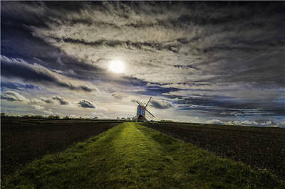 Windmill Stevington England Full Wall Mural Photo Wallpaper Print Home 3D Decal