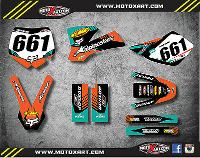 KTM 50 SX 2002 - 2008 Full  Custom Graphic  Kit -VITAL STYLE - decals stickers