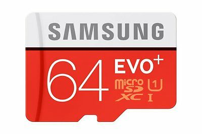 Samsung 64GB Evo Plus micro SD SDXC Class 10 80MB/s UHS-I Memory Card Galaxy S5