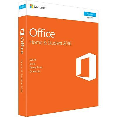 Microsoft Office Home & Student 2016 Word Excel PowerPoint OneNote OneDrive