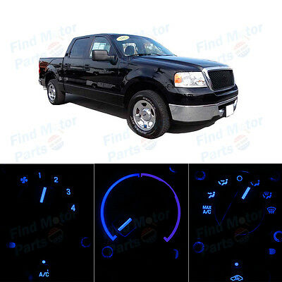 Blue LED Bulbs Temperature AC Climate Control Knob Lights for F150 NO LCD 04-08
