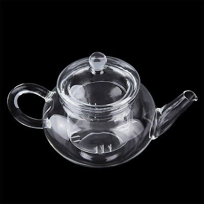 Heat Resistan Glass Teapot With Infuser Coffee Tea Leaf Herbal Pot 250ml #T