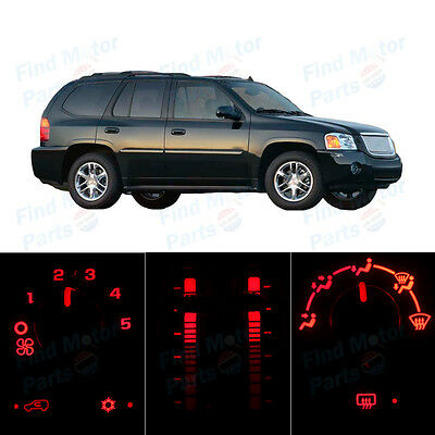 Red Heater Climate AC Control Bulbs LED Lights for Envoy XL XUV w/o LCD 05-09