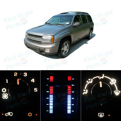 Pack of AC Climate Controls White Bulb for 2003-2006 Chevrolet Trailblazer EXT