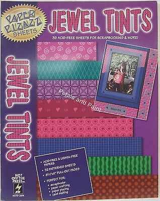 Hot Off The Press Jewel Tints 32 Sheets for Scrapbooking, Card Making & Craft