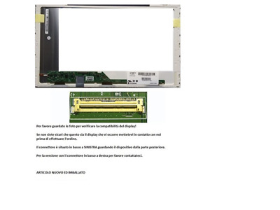 "LTN156AT24-T01 Display LCD Schermo 15,6"" LED 1366x768 40 pin"