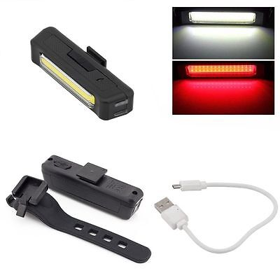 6 Modes LED Bicycle Tail Light USB Rechargeable Waterproof Front Rear Bike Lamp