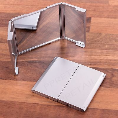 3 Sided Folding Mirror Compact Hands Free Vanity Folding Stand Makeup Eyes
