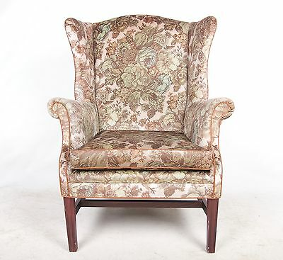 Lounge Chair Armchair Wingback Queen Anne Vintage Fireside Highback Chair Parker
