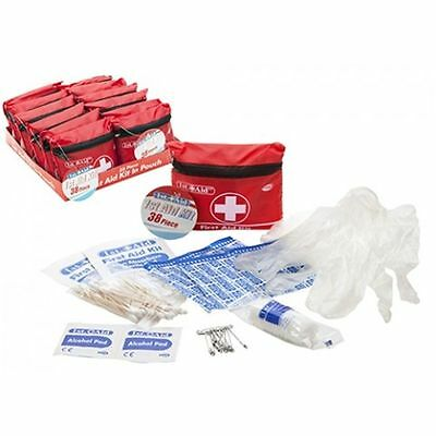 Mini 38 Piece Medical First Aid Kit In Case Bag Travel Home Car Office