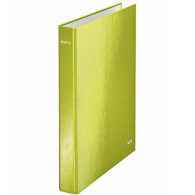 LEITZ WOW A4 PLUS 2 D-RING BINGER / 10 PACK / 25mm / BRIGHT GREEN / 42410064