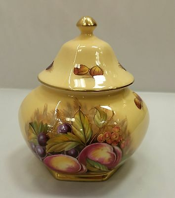 Aynsley China Orchard Gold Lidded Jar