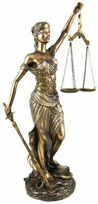 Statue of Justice Greek Lady Figure Blind Scale Lawyer Legal Law Gift Sculpture