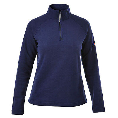 Berghaus Womens Ladies Arnside Fleece Half Zip Walking Hike Jumper in Dark Blue