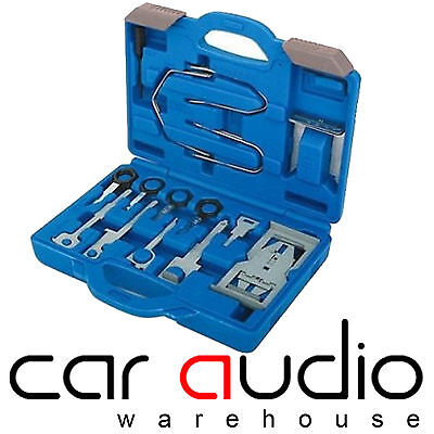 32 Piece Hard Case Universal Car Stereo Radio Removal Tool Kit Release Keys Set