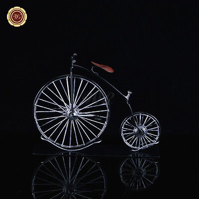 """9.5"""" Metal Penny Farthing Model Vintage High Wheel Bicycle Sculpture Collection"""