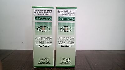 Dr Reckeweg's Cineraria Maritima 10ml Eye Drops Without Alcohol Made in Germany