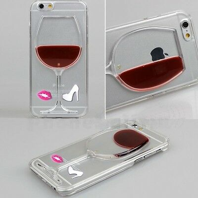 Liquid 3D Wine Glass Cocktail Bottle Phone Case Cover For iPhone 5S 6 6S 7Plus