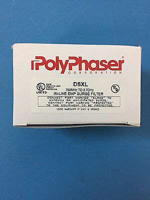 POLYPHASER CORP. DSXL 700MHz - 2.7GHz IN LINE EMP SURGE FILTER
