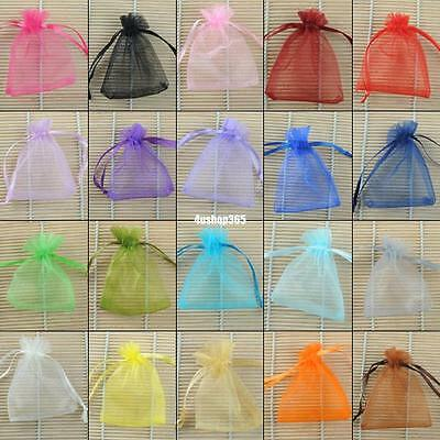 100pcs Wholesale Plain Organza Wedding Jewellery Christmas Party Gift Bags Pouch