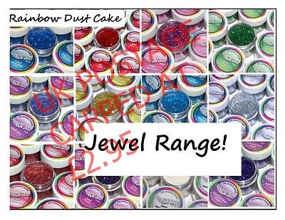 RAINBOW DUST Cake Glitter Cake Cupcake Decorating Baking Sparkle JEWEL RANGE (P)