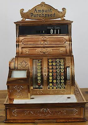 1911 National Cash Register in Bronze with Printer & Marquee, Model 1064-G.