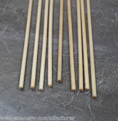 WWS BALSA WOOD DOWEL  3mm x 9 lengths of 12 inches (A16)