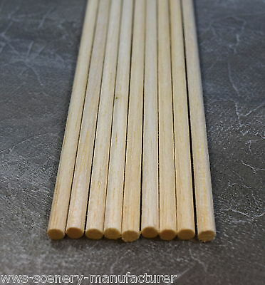 WWS BALSA WOOD DOWEL  6.5mm (1/4) x 9 lengths of 12 inches (A18)