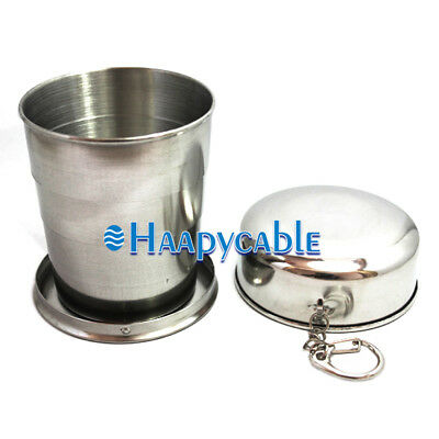 New Stainless Steel Portable Outdoor 240ml Telescopic Collapsible Folding Cup