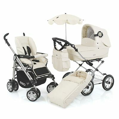 BabyStyle Prestige Pram / Pushchair / Stroller Fabric Pack - Cream Croc Leather
