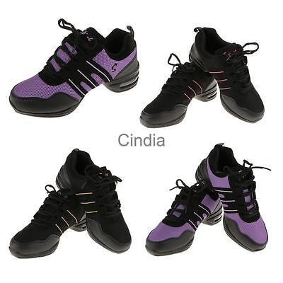 Trendy Women Sneakers Lace Up Comfy Modern Jazz Hip Hop Dance Shoes Breathable