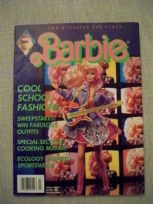 Barbie Girls Fall 1990 Magazine for soft cover Excellent Condition unread