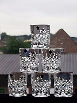 "Watford Crystal ""bushey"" Pattern Crystal Tumblers Set Of 6"