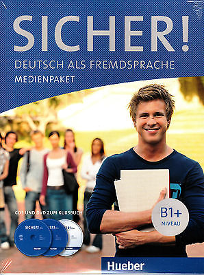 HUEBER Sicher! B1+ MEDIENPAKET CD's & DVD zum Kursbuch @NEW@ German Language