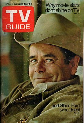 1972 TV Guide April 1 - Glenn Ford; Julie Adams; Captain Kangaroo; Emergency!