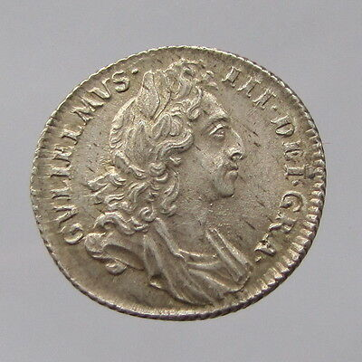 William III, silver sixpence, 1696, EF