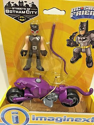 Fisher Price Imaginext Dc Super Friends Gotham City Catwoman With Cycle Htf