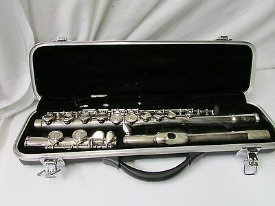 Sky USA Student Silver Plate Flute w/Hard Shell Case ~ Made in U.S.A.