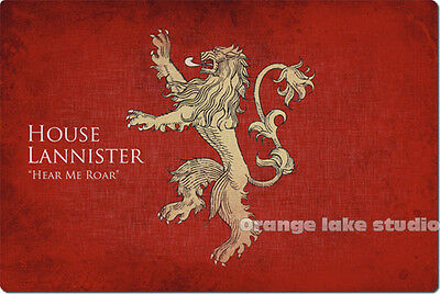 Game of Thrones House Lannister Crude Rubber Oversized Mouse Pad Red Table Mat