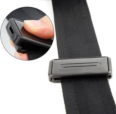 2 Pcs Auto Car Seat Belt Safety Adjuster Clips Stopper Buckle Improves Comfort#