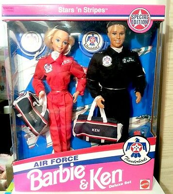 Air Force Barbie & Ken Special Edition #11581 Stars & Stripes Thunderbirds Set
