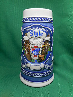 Old Style  Chicagoland  1982  Beer Stein