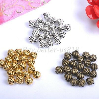 100& Tibetan Silver, Bronze, Charms Spacer Beads - Choose 4MM & 6MM & 8MM