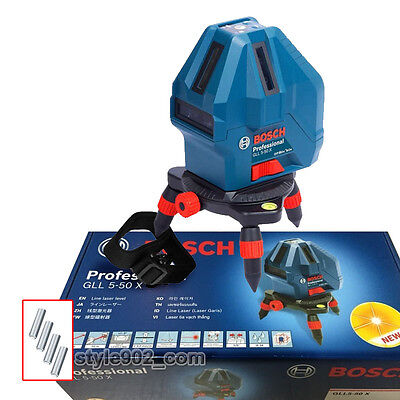 Original BOSCH GLL 5-50X Professional 5-Line Laser Self Level Measure GLL 5-50