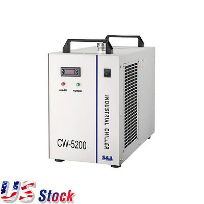 US Stock CW-5200DG Water Chiller for 130W/150W CO2 Laser Tube, 110V 60Hz