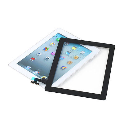 Replacement Touch Screen Plastic Digitizer + Home Button Assembly for iPad2 #T