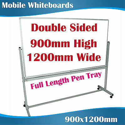 Double Sided Mobile whiteboard magnetic whiteboards 900x1200mm