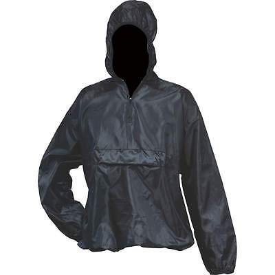 All-Weather Pull-Over Black Rain Jacket